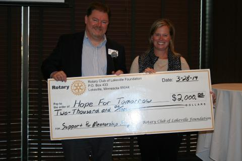Lakeville Rotary Donation